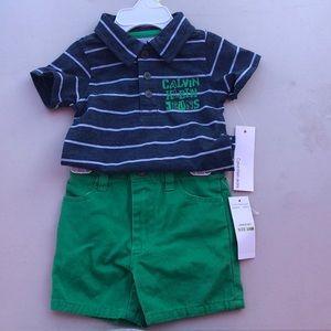 Polo shirt and shorts
